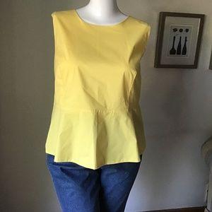 A E yellow tunic blouse